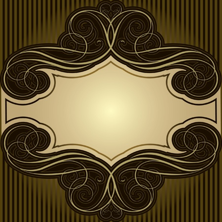Abstract brown frame Stock Vector - 12205606