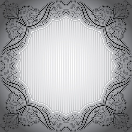 Abstract grey frame  Vector