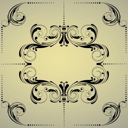 Floral achtergrond frame