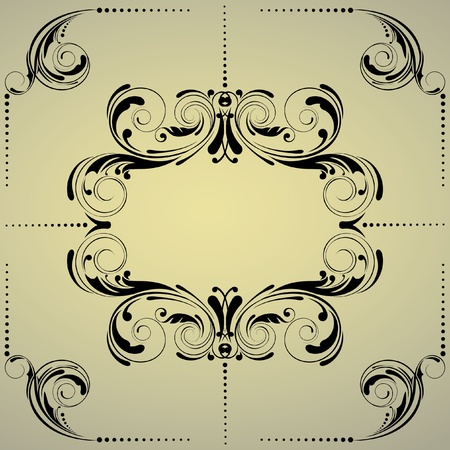 Floral background frame  Vector