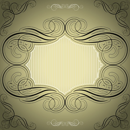 Monochrome abstract frame  Stock Vector - 12205598