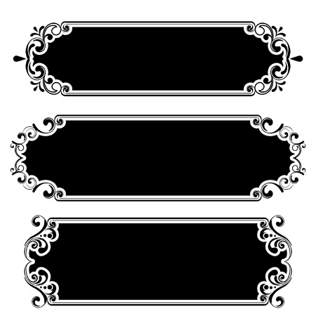 Retro black frame  Stock Vector - 12205595