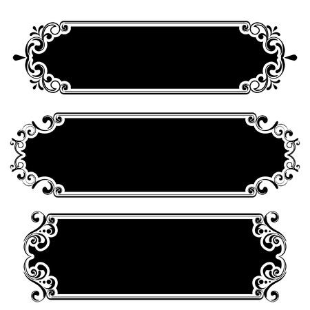 Retro black frame Stock Vector - 12205595