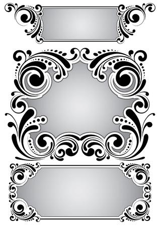 Retro floral frame  Vector