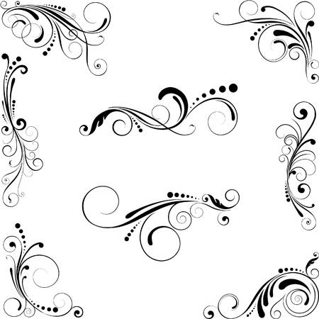 Set van design elementen Stock Illustratie