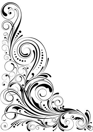 古美術品: 渦巻き模様の花飾り