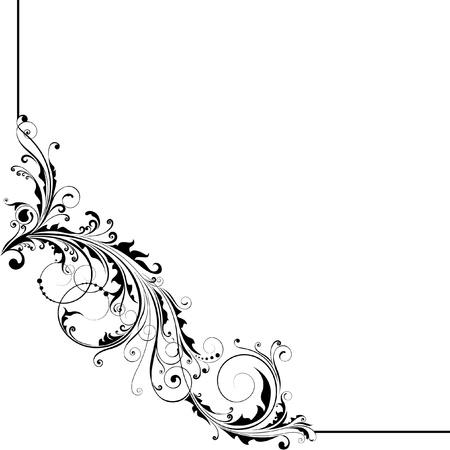 Hoek floral design Stock Illustratie