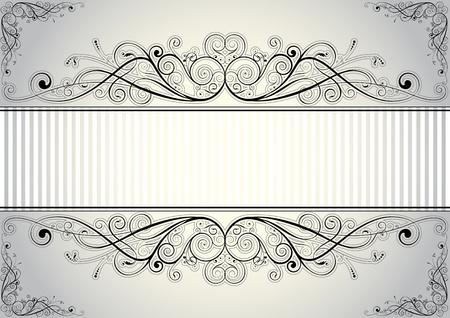 baroque frames: Floral frame  Illustration
