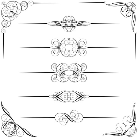 Divider and corner designs Vector