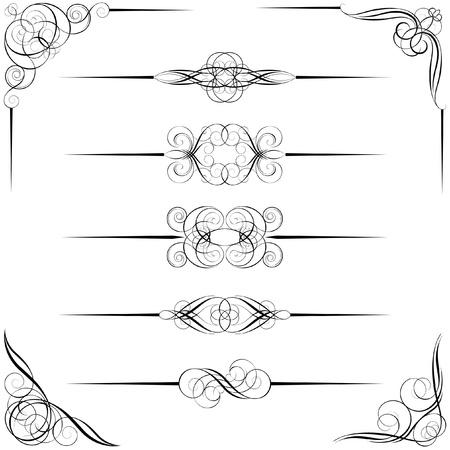Divider en hoek ontwerpen Stock Illustratie