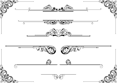 Divider and corner floral design Vector