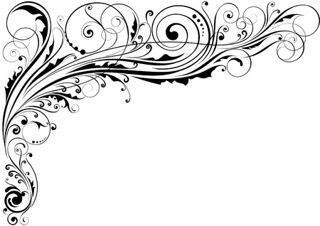 single line: Floral design