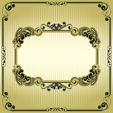 Vintage old frame  Stock Vector - 12205623