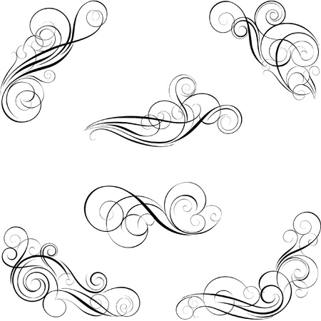 swirl design: Set of calligraphy design