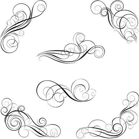 Set van kalligrafie ontwerp Stock Illustratie