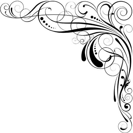 Swirl hoek ontwerp Stock Illustratie
