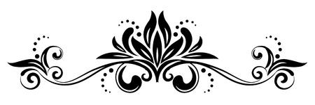 scroll design: Ornament design Illustration