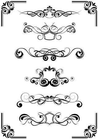 Bloemen vector ornamenten