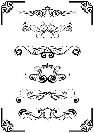 Floral vector ornaments  Illustration