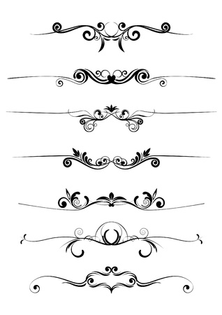 vector floral ornaments  Illustration