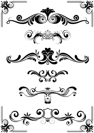 fancy border: Classical abstract elements  Illustration