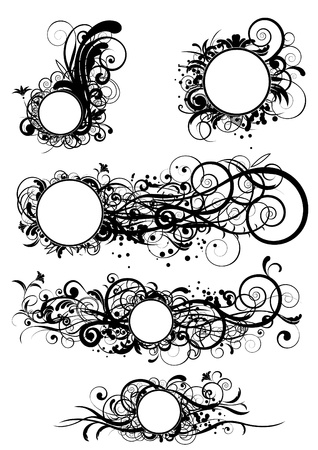 Abstract circle designs  Vector