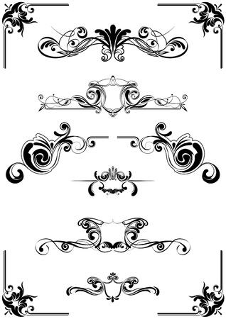 kalligrafische elementen Stock Illustratie