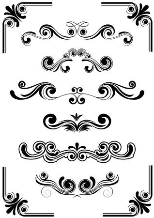 fancy border: abstract vector ornament