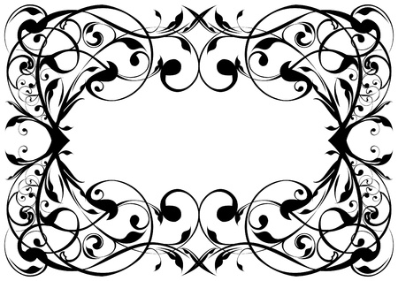 Floral frame  Stock Vector - 12205704