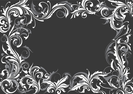 Grey floral background Vector