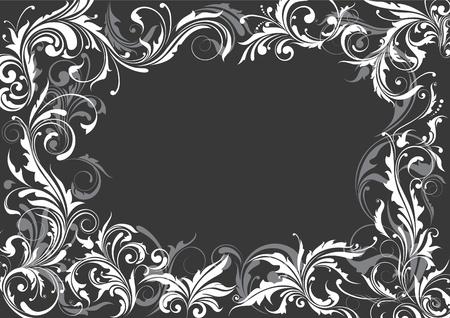 Grijze bloemenachtergrond Stock Illustratie