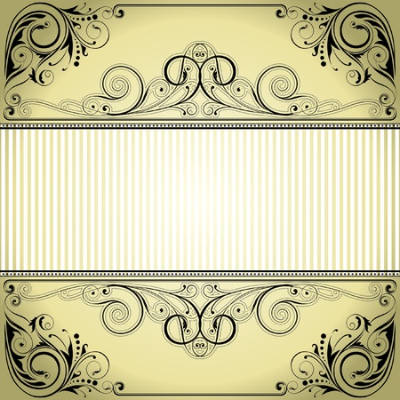 Label frame design  Vector