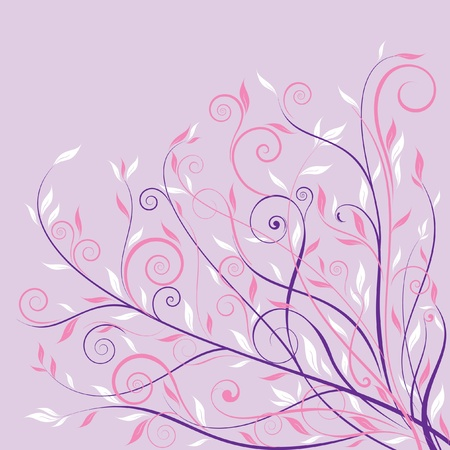 Pink floral design background  Vector