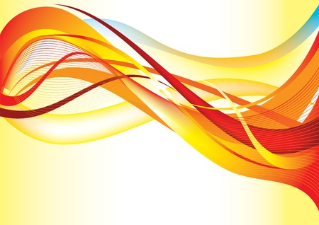 Red background wave Vector