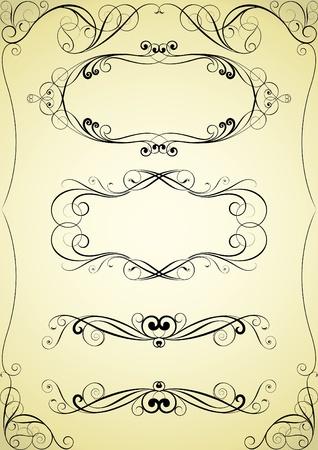 Set van werveling frame en hoek ontwerp
