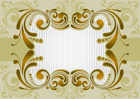 Retro golden background Stock Vector - 12205699