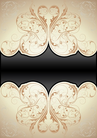 vignette: Swirl background Retro