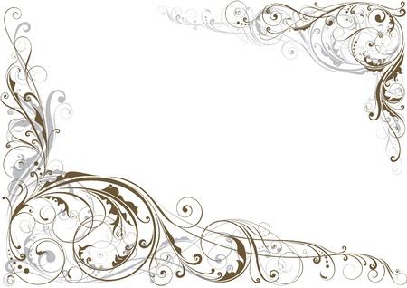 Swirl bloemen hoek
