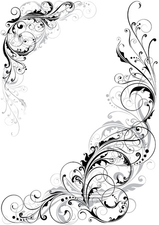 spotted flower: Swirl floral design  Illustration