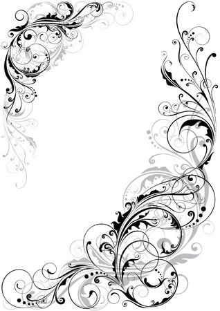filigree swirl: Swirl floral design  Illustration