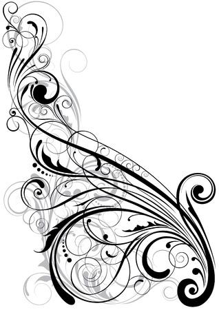 Swirl florale element Stock Illustratie