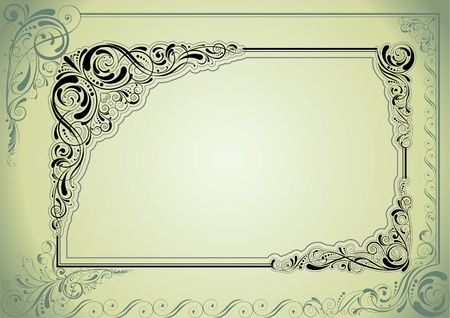 spotted flower: Frame retro design