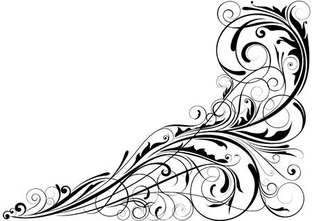 Abstract floral hoek ontwerp
