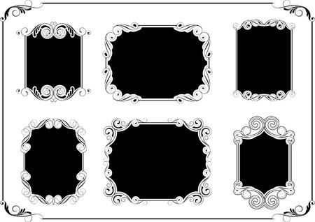 Black frames Vector