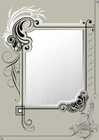 Retro achtergrond frame Stock Illustratie