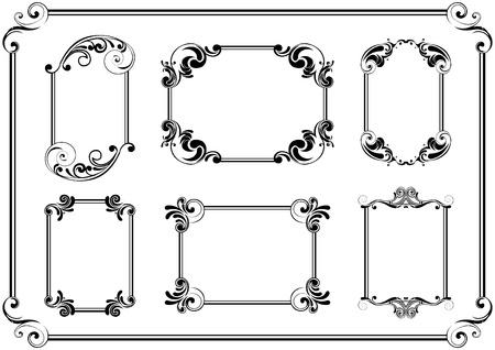 old square: Set of black frame