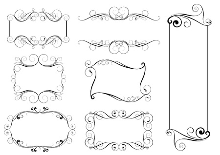 Set of swirl frames Vector
