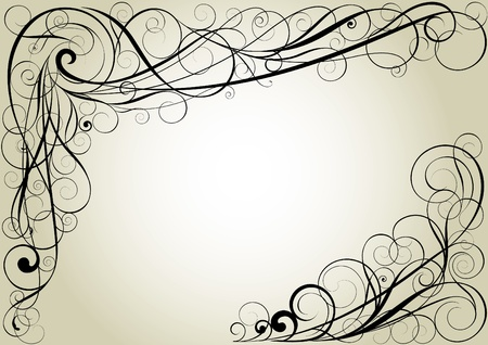 Swirll florall corner design  Vector