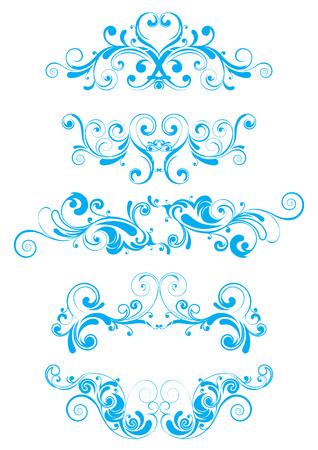blue swirl: Blue swirl design