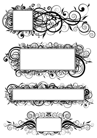 rectangle: Abstract square design Illustration